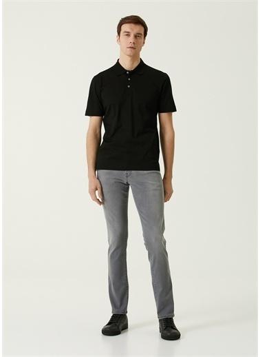 Canali Polo Yaka T-shirt Siyah
